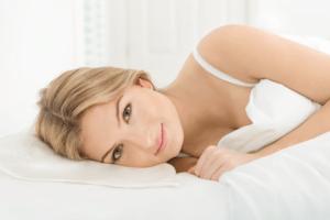 woman sleeping on beauty pillow
